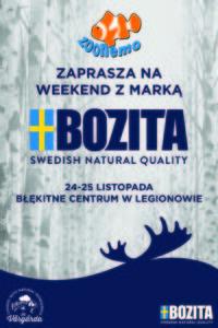 W dniach 24-25.11.2017 r. w ZooNemo w Legionowie, weekend z firmą Bozita, producentem karmy dla psów i kotów!