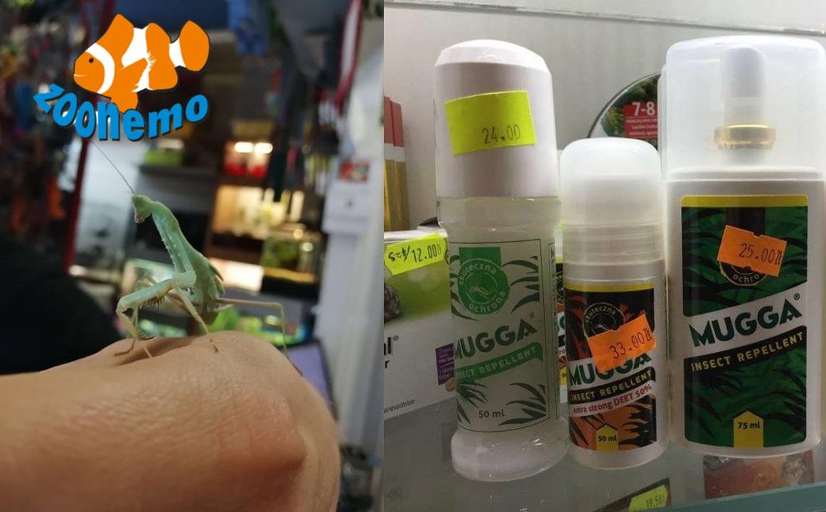 Sklepy ZooNemo preparaty Mugga na komary kleszcze meszki Legionowo Nowuy Dwór Mazowiecki