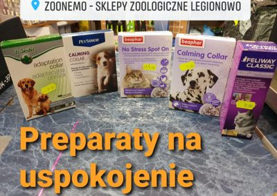 Zoonemo preparaty na uspokojenie dla psa i kota Legionowo Nowy Dwór Mazowiecki
