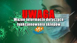 UWAGA! Ważne informacje dotyczące funkcjonowania sklepów ZooNemo