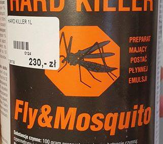 HARD KILLER Fly Mosquito SKUTECZNY I WYDAJNY OPRYSK NA KOMARY MUCHY KARALUCHY MRÓWKI I PLUSKWY Legionowo Nowy Dwór Mazowiecki ZooNemo 2
