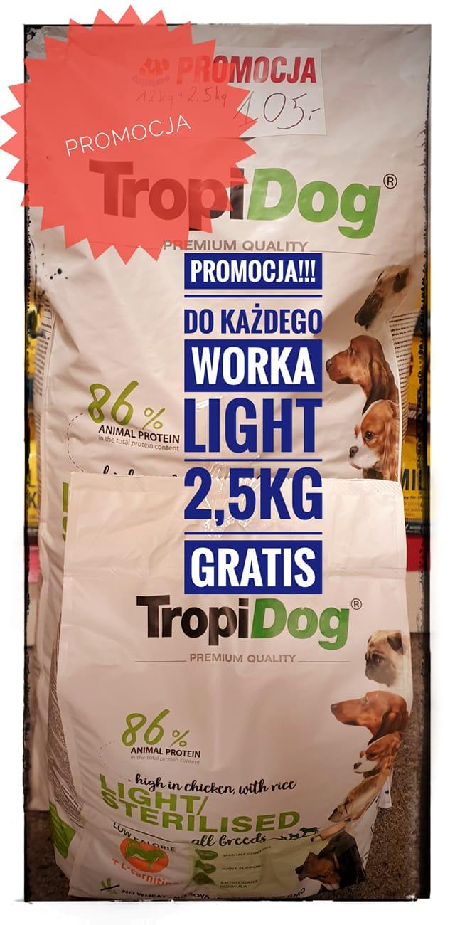 Karma TROPIDOG Light&Sterylised promocja ZooNemo Nowy Dwór Mazowiecki