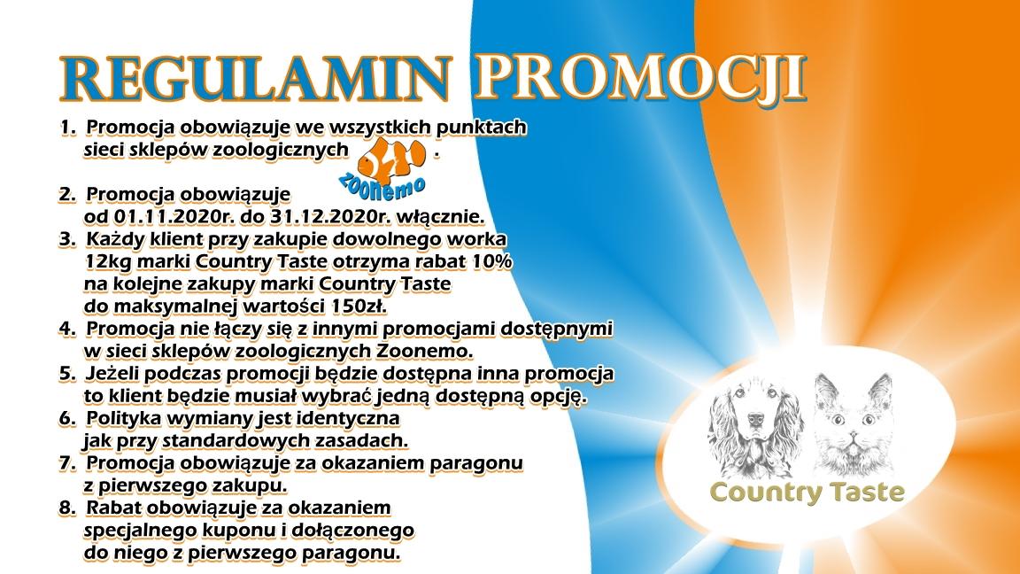 regulamin promocji Country Taste