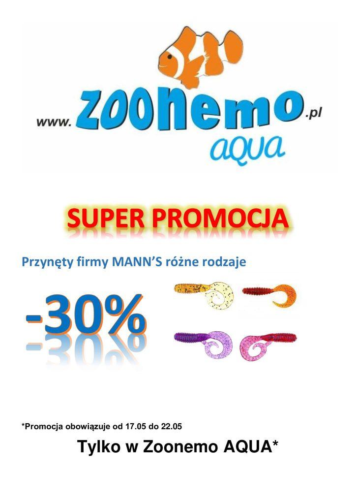 Od poniedziałku wszystkie przynęty firmy MANNS! 30% TANIEJ‼️ ZooNemo Aqua
