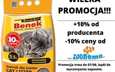 Już czekamy na Was z nową promocją! 🤩 Żwirek Benek dla kotów